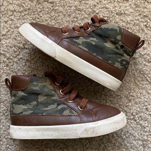Gymboree Brown & Camo Hightop Sneakers
